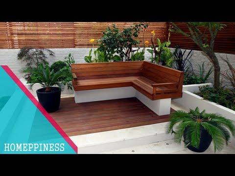 FRESH & GREEN | 25+ Modern Garden Ideas with Nice Garden Benches - HOMEPPINESS