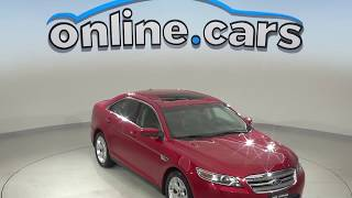 A10152YT Used 2012 Ford Taurus SEL FWD 4D Sedan Red Test Drive, Review, For Sale