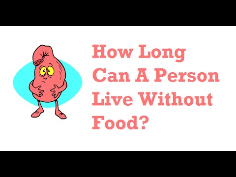 How Long Can A Person Live Without Food Youtube