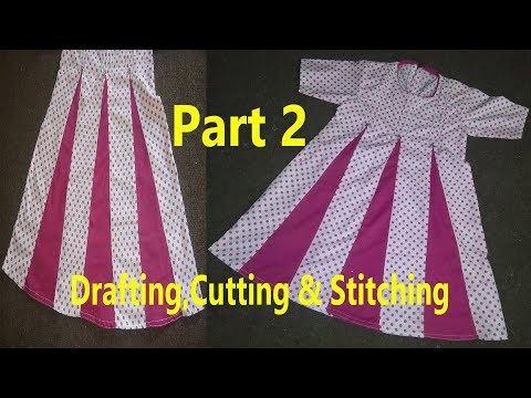 Kaliyon Wala Frock | Kalidar Frock | Drafting,Cutting & Stitching In Professional Style | Part 2