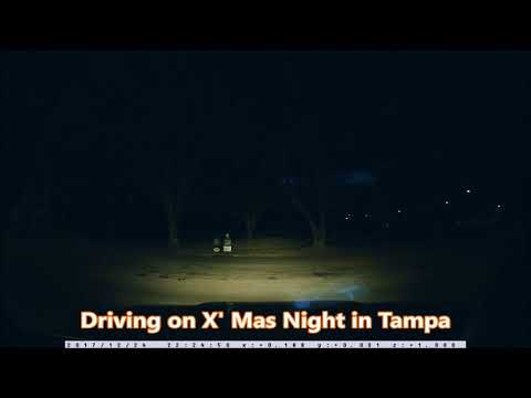 Driving on X' Mas Night in Tampa Florida