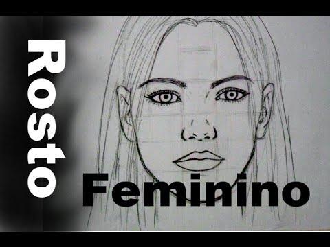 01 Frontal Rosto Feminino Como Desenhar Youtube