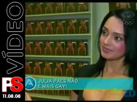 Em 2008 Julia Paes visitou Scorpius Home Vídeo. Cobertura da Band TV