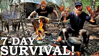Catch and Cook Survival Challenge | 100% WILD Food SURVIVAL Challenge