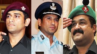 OMG - 9 Celebrities In INDIAN ARMY