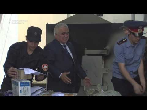 Tajikistan Police Incinerate Cache Of Illicit Drugs
