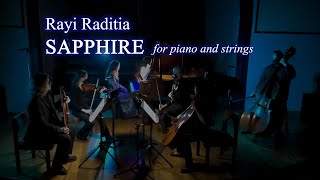 Rayi Raditia. SAPPHIRE for piano and strings (2020)
