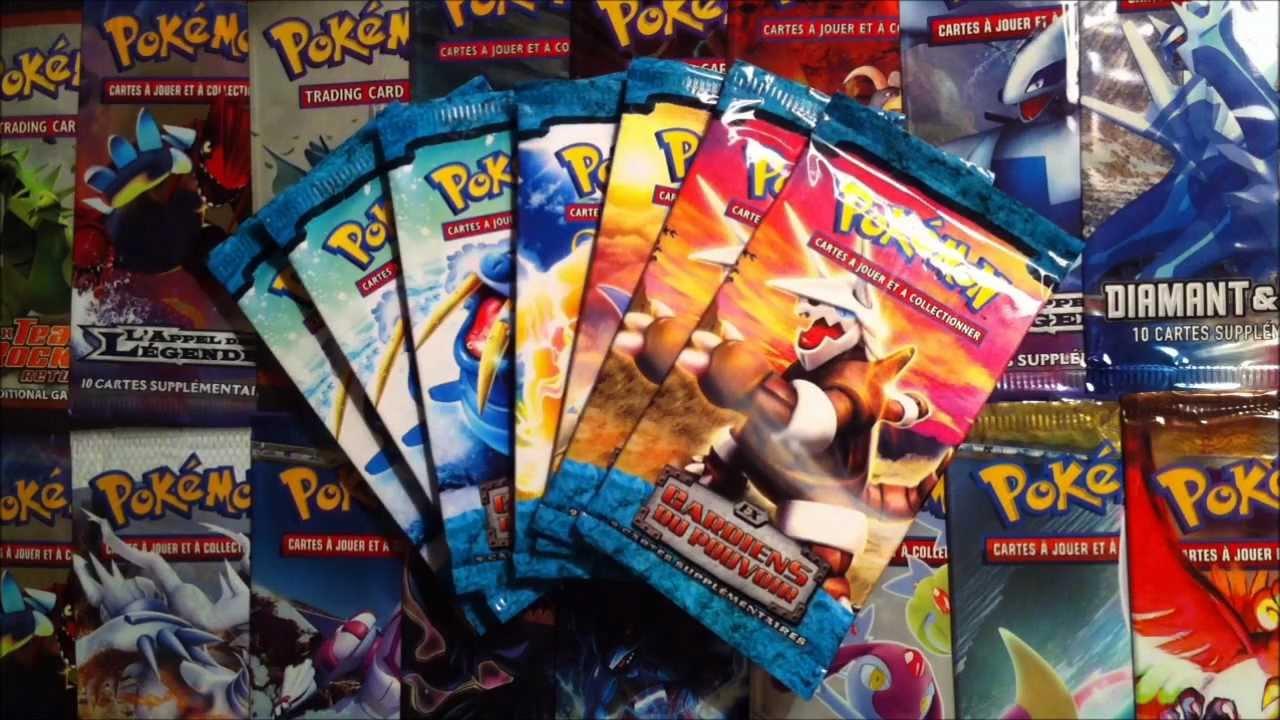 Ouverture de 7 boosters pokemon ex gardiens du pouvoir a voir pour le plaisir des yeux - Tout les carte pokemon ex ...