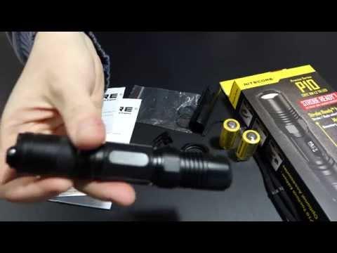 Nitecore P10 | Taktische EDC LED Taschenlampe | Cree XM-L2 T6 / 800 Lumen | Flashlight