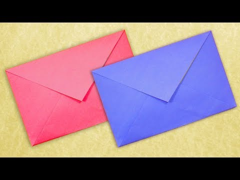 Paper Envelope Without Glue - How to Make an Envelope DIY [Easy Origami] With Color Paper