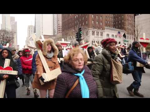 Magnificent Mile march remembers Chicago
