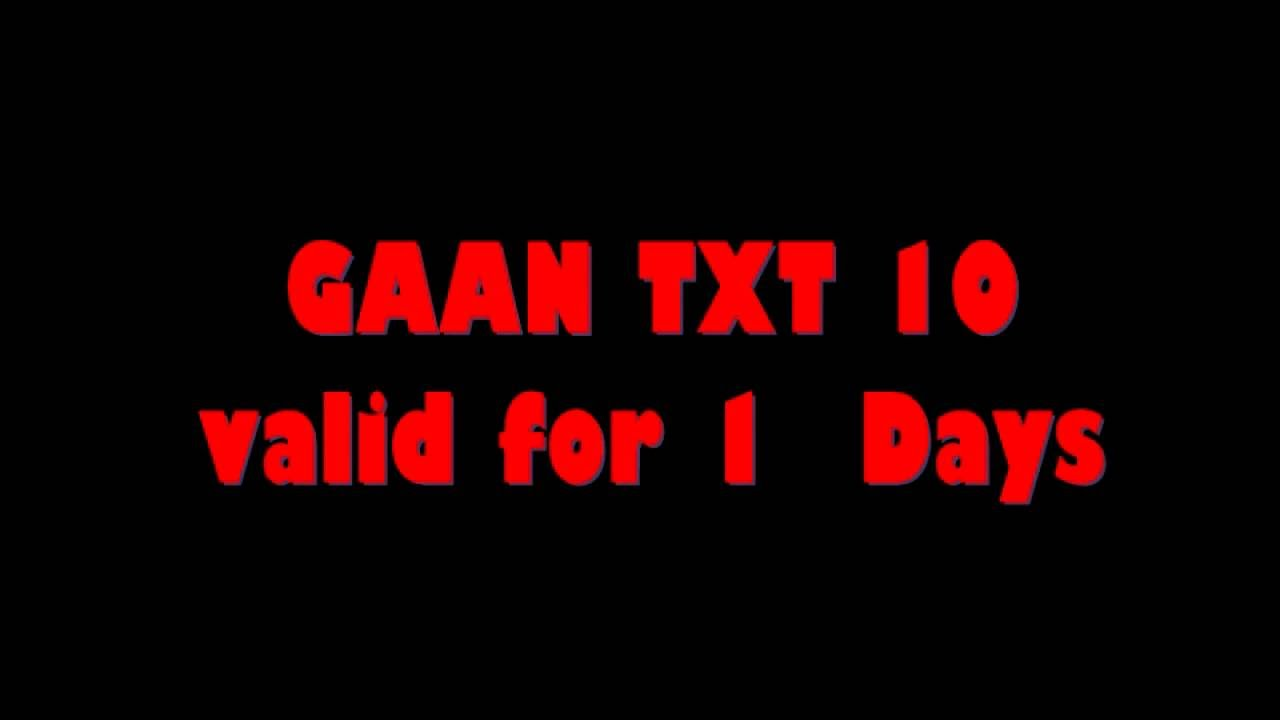 TNT GAAN TXT 10 for 1 day
