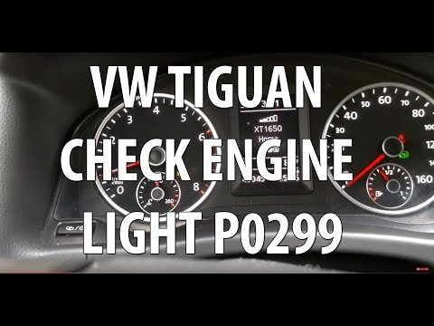 VW/Volkswagen Tiguan 2.0T TSI Check Engine Light Error P0299. How to Check Turbo Issue Part 1