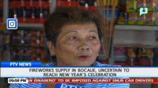 Fireworks supply in Bocaue, uncertain to reach New Year