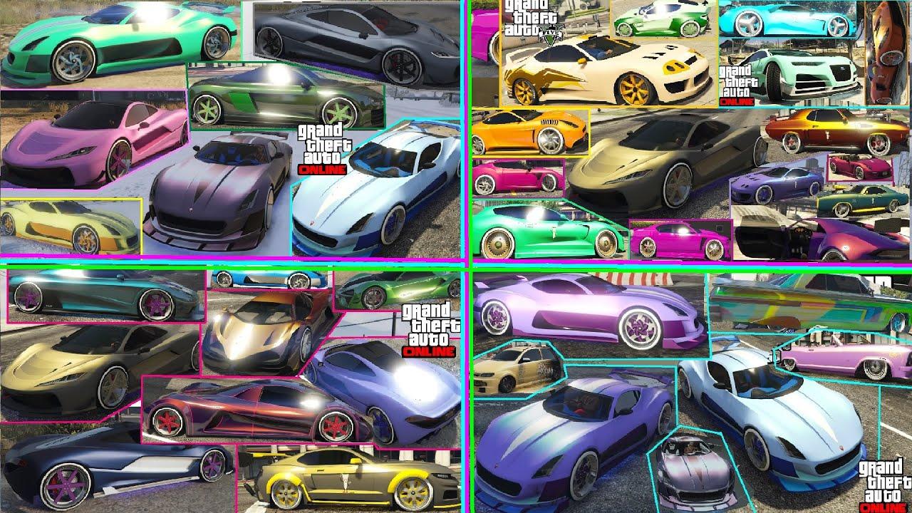 GTA 5 I +100 PAINT JOBS I Crew Colors I BEST OF 2020