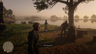 Red Dead Redemption 2 - Arthur Eats Stew & Watches Javier Talk to Angry Bill Williamson (2018)