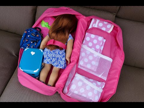 How To Pack And Travel With Your American Girl Doll ~ Joss Kendrick Vacation Hacks!