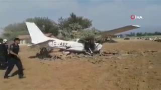 Antalya Manavgat'ta Eğitim Uçağı Pistten Çıktı