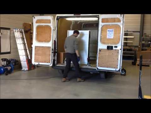 Rampe de chargement pliable et pivotante en aluminium pour fourgon, véhicules utilitaires