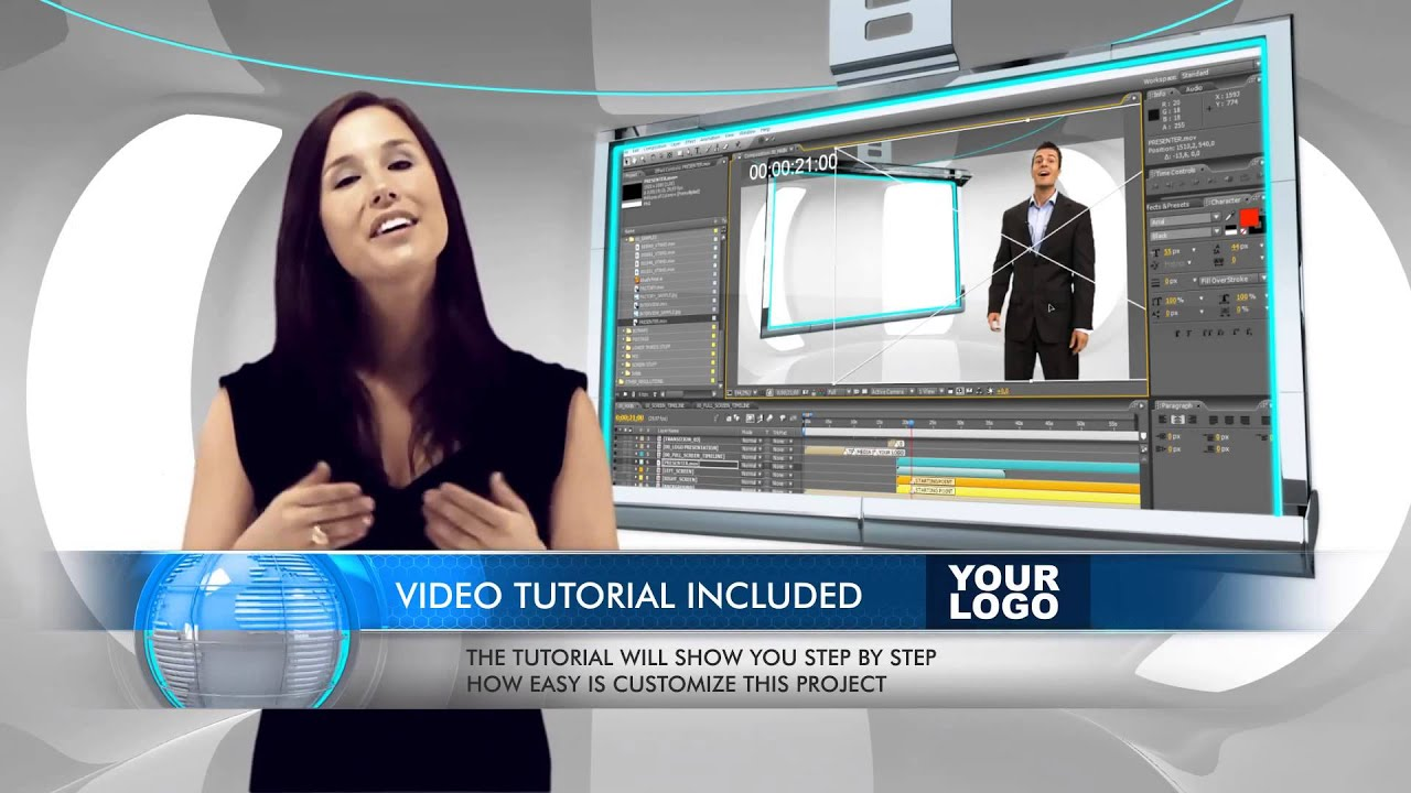 Virtual Business Television News Studio - Adobe After Effects ...