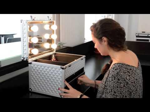 L 39 id ale valise de beaut clairage ampoule youtube - Malette de rangement maquillage ...