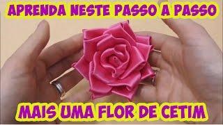 Aprenda Neste Passo a Passo Mais uma Flor de Fita Cetim