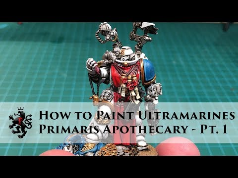 How to Paint Ultramarines - Primaris Apothecary - Part 1 - White Armour - Alternate Blue