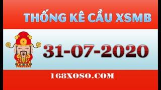 Thống kê cầu đẹp xổ số Miền Bắc - Hải Phòng Thứ 6 ngày 31-07-2020