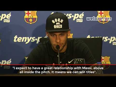 "Neymar about Messi: ""He is the best I've ever seen playing"" / www.weloba.com"
