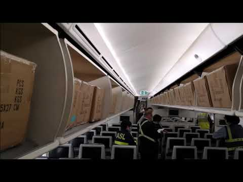 JASG Successfully Load Cargo In The Cabin Of An El Al Israel Passenger Aircraft.
