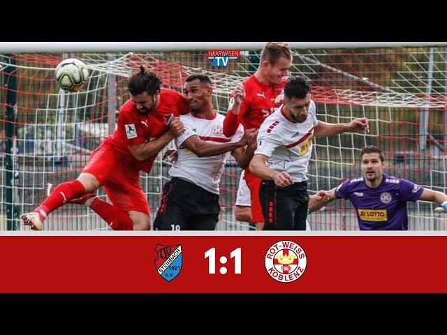 TSV Steinbach Haiger - TuS Rot-Weiß Koblenz 1:1 (Regionalliga Südwest 2019-20 I #TSVRWK )