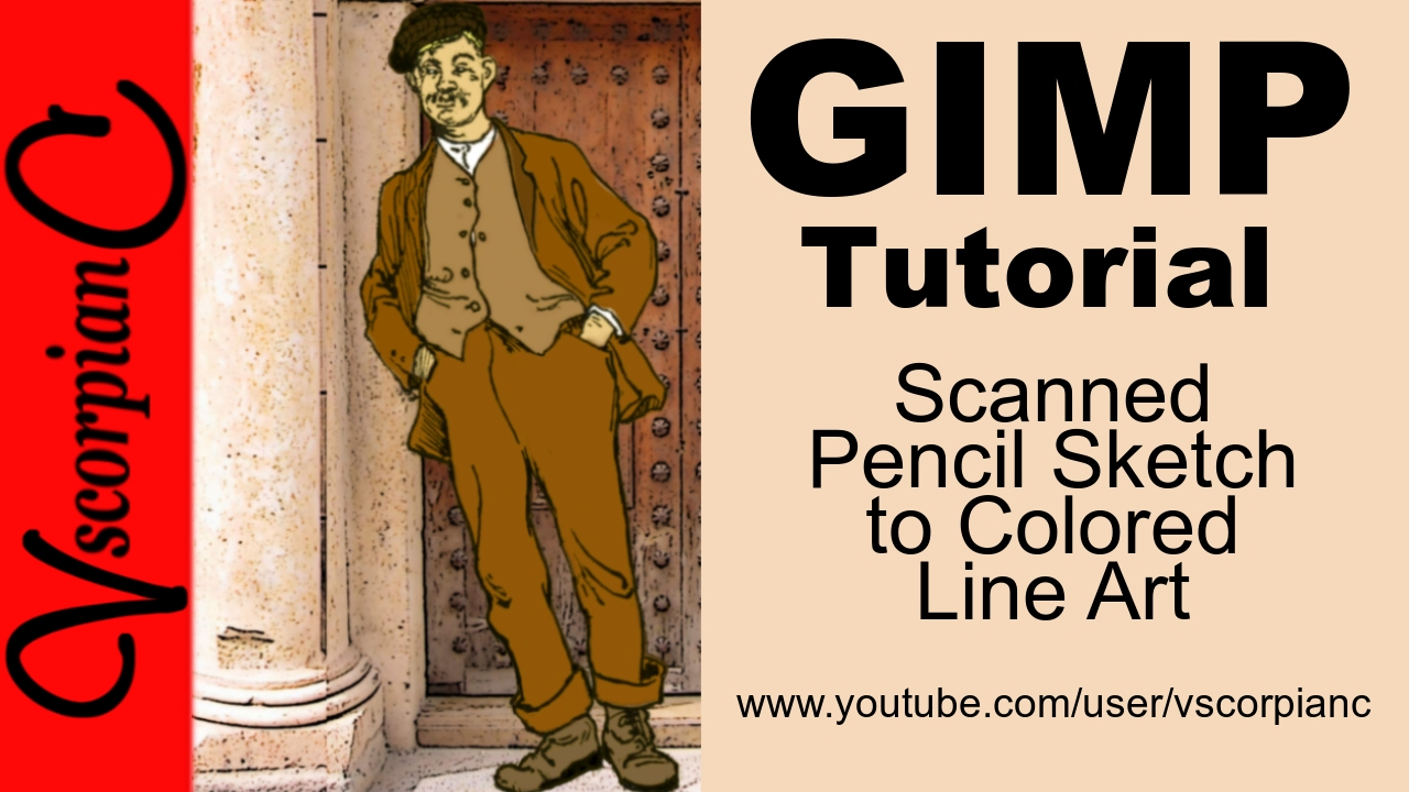 Line Art In Gimp : Gimp tutorial how to clean up scanned pencil sketch color line