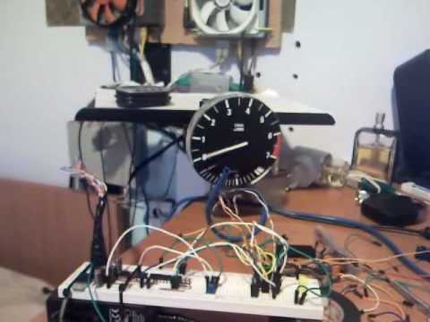 Drinving an aircore tachometer with an H-Bridge L293D