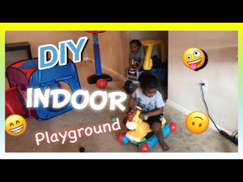 Kids DIY Indoor Playground  KIDS RULE TV