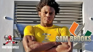 Miami Hurricane commit - Sam Brooks DE/LB 2019