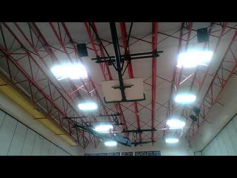 Electro Voice Speakers in Deposit Elementary School Gym