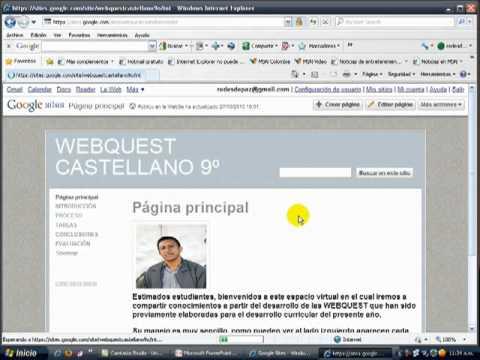 Como Crear Una Webquest Utilizando Google Mp4 Youtube
