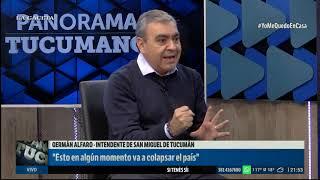 Entrevista al intendente Germán Alfaro #PanoramaTucumano  (8/04/2020)