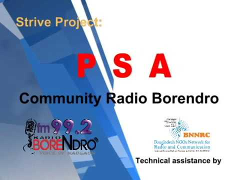 BNNRC - PSA Community Radio Borendro