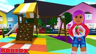 I MADE THE MOST COLOURFUL PLAYGROUND IN MY BLOXBURG TOWN | Roblox