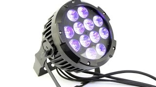 Outdoor Flat LED Par Can 12*18W RGBAW+UV 6in1 Color IP65