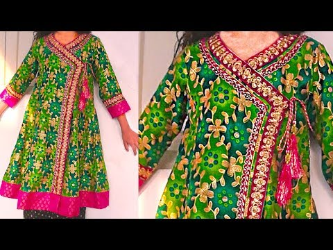 Angrakha kurti cutting & Stitching tutorial