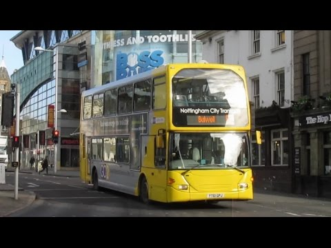 Buses Trains & Trams in Nottingham February 2017
