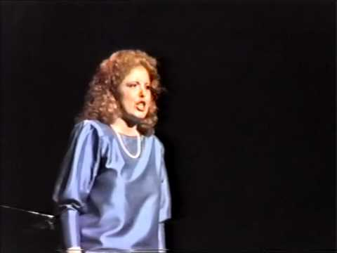 1986: Fiona Janes, soprano opera singer, in the Finals of the Australian Singing Competition