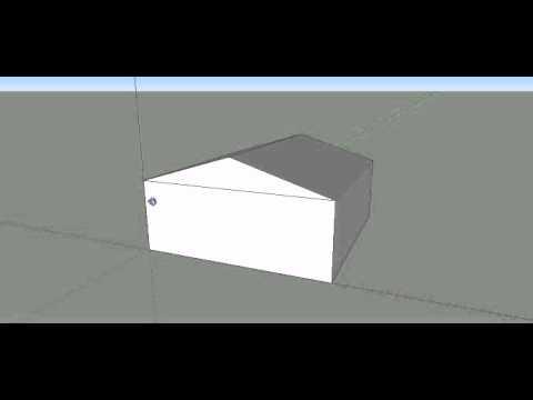comment faire un toit simple dans google sketchup d youtube. Black Bedroom Furniture Sets. Home Design Ideas