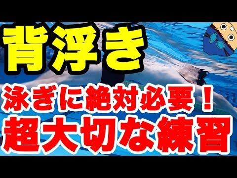 【水泳の基本】背浮き【背泳ぎだけじゃない!平泳ぎでも重要】楽に進むた為の浮く姿勢作り【コツ・テクニック】