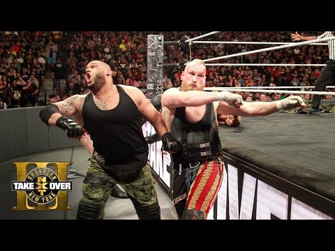 Brawl between SAnitY and The Authors of Pain spills into the crowd: NXT TakeOver: Brooklyn III
