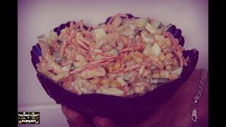 Мега простой,вкусный,летний салат с сухариками!