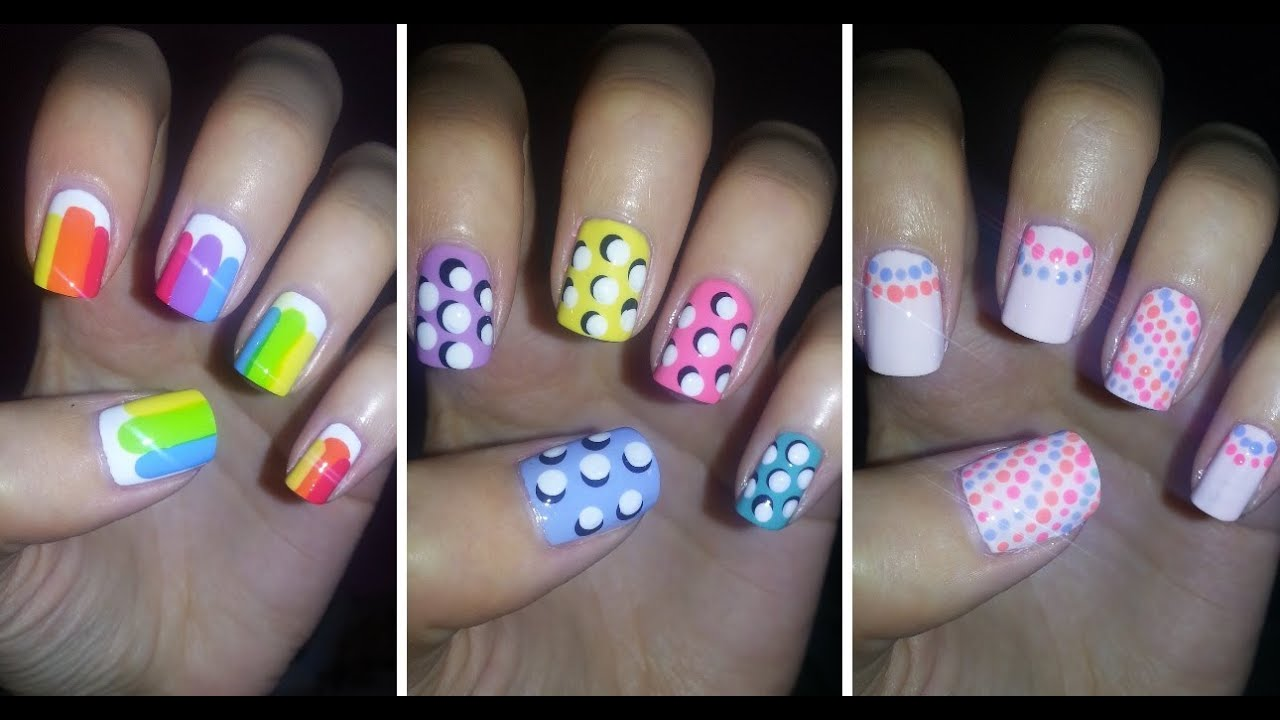 Easy nail art for beginners 4 youtube prinsesfo Images