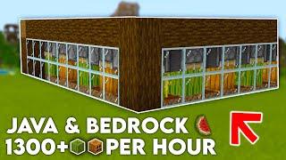 EASY Automatic Melon Fąrm and Pumpkin Farm in Minecraft! (Bedrock & Java) - Minecraft Tutorial